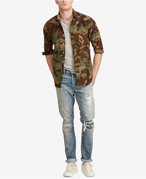 eabac543c ... Polo Ralph Lauren Men s Big   Tall Classic-Fit Camo Oxford Shirt ...
