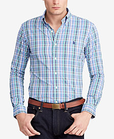 Polo Ralph Lauren Men's Big & Tall Classic-Fit Plaid Performance Twill Shirt