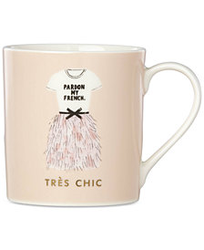 kate spade new york Things We Love Pardon My French Très Chic Mug