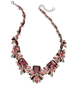 """Silver-Tone Crystal & Stone Statement Necklace, 18"""" + 2"""" extender, Created for Macy's"""