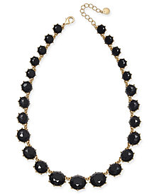 "Charter Club Gold-Tone Graduated Stone Statement Necklace, 17"" + 2"" extender, Created for Macy's"