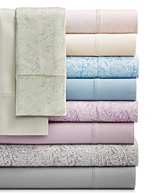 Bari 4-Pc. Solid and Printed Sheet Sets, 350 Thread Count Cotton Blend
