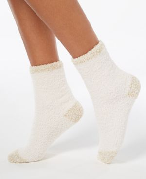 Image of Charter Club Colorblocked Fuzzy Cozy Socks, Created for Macy's