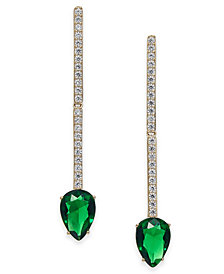 Danori Crystal & Chain Linear Drop Earrings, Created for Macy's