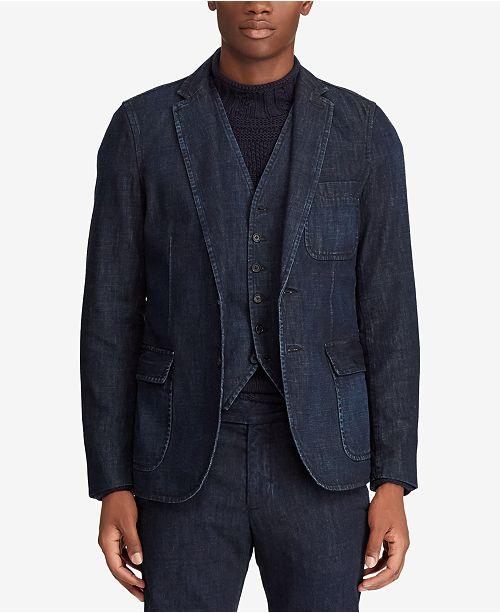 d64155938 Polo Ralph Lauren Men s Morgan Denim Suit Jacket   Reviews ...