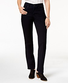 Petite Tummy-Control Straight-Leg Jeans, Created for Macy's