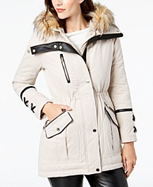 Hooded Faux-Fur-Trim Anorak, Created for Macy's