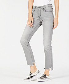 Flying Monkey Slanted Step-Hem Jeans