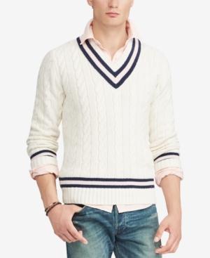 1930s Men's Clothing Polo Ralph Lauren Mens Pink Pony Cricket Sweater $298.00 AT vintagedancer.com
