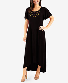 NY Collection Petite Grommeted Maxi Dress
