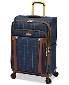 "London Fog Brentwood 25"" Softside Expandable Spinner Suitcase, Created for Macy's"