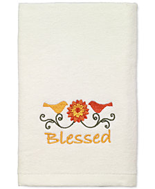 LAST ACT! Avanti Harvest Blessed Cotton Embroidered Hand Towel