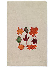 LAST ACT! Avanti Leaves Cotton Embroidered Hand Towel