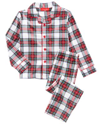 Matching Stewart Plaid Pajama Set, Available In Toddler and Kids, Created For Macy's