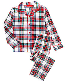 Matching Family Pajamas Stewart Plaid Pajama Set, Available In Toddler and Kids, Created For Macy's