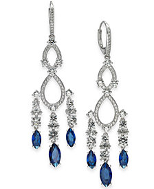 Danori Crystal & Stone Chandelier Earrings, Created for Macy's