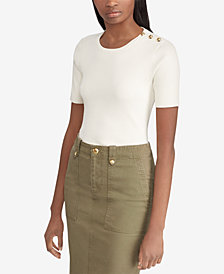 Lauren Ralph Lauren Button-Trim Sweater