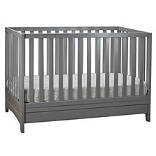 Mila 3-in-1 Crib, Gray