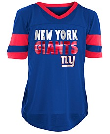 New York Giants Foil Football Jersey, Girls (4-16)