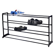 Home Basics Plastic/Metal 20 Pair Shoe Rack