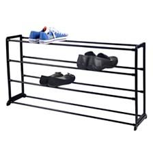 Home Basics Plastic/Metal 20 Pair Shoe Rack
