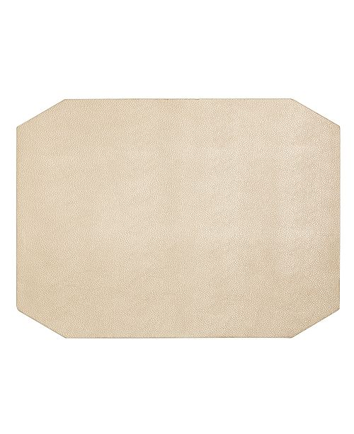 Hotel Collection Faux Leather Champagne Placemat, Created for Macy's