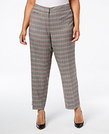 NY Collection Plus & Petite Plus Size Plaid Pants
