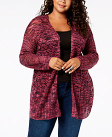 John Paul Richard Plus Size Pointelle Cardigan