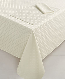 "kate spade new york Café Caning  60"" x 104"" Fresh Cream Tablecloth"