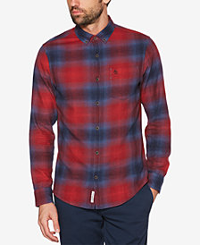 Original Penguin Men's Ombré Plaid Pocket Shirt