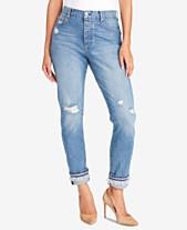 2ecf44a8cc7 Vintage America Petite Ripped Cuffed Jeans