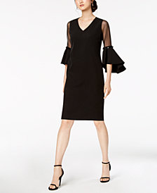 MSK Petite Illusion Bell-Sleeve Dress