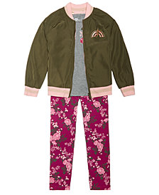 Epic Threads Little Girls Reversible Baseball Jacket, T-Shirt & Leggings, Created for Macy's
