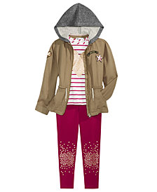 Epic Threads Little Girls Utility Jacket, T-Shirt & Leggings, Created for Macy's