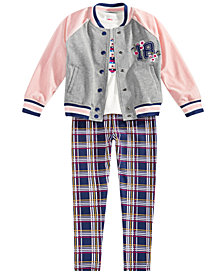 Epic Threads Toddler Girls Varsity Jacket, T-shirt & Leggings, Created for Macy's