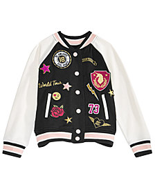 Epic Threads Toddler Girls Patches Varsity Jacket, Created for Macy's