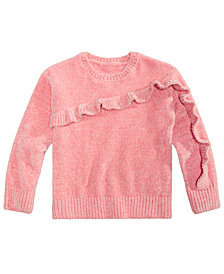 Epic Threads Little Girls Ruffle-Trim Sweater, Created for Macy's