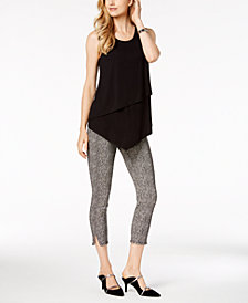 Alfani Tiered Top & Fringe-Trim Pants, Created for Macy's