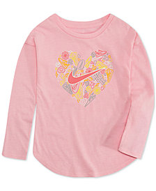 Nike Little Girls Heart-Print T-Shirt