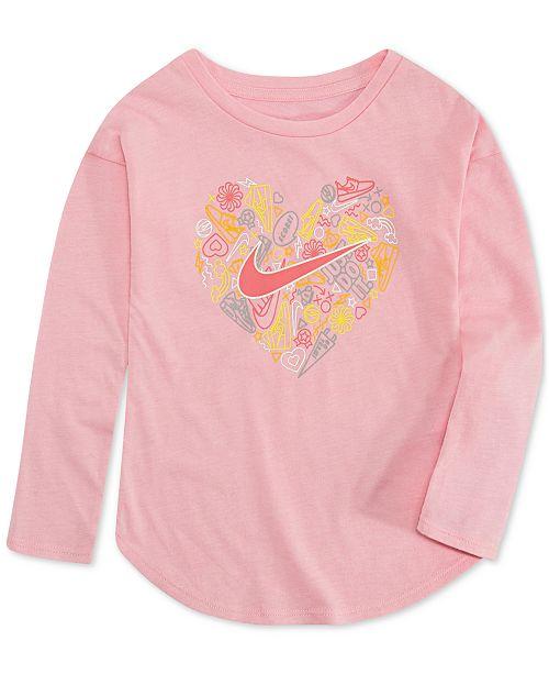 5a8ab2e99 Nike Toddler Girls Heart-Print T-Shirt & Reviews - Shirts & Tees - Kids ...