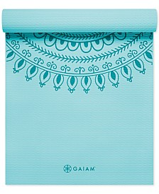 Gaiam 6mm Premium Printed Yoga Mat