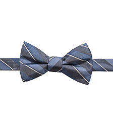 Ryan Seacrest Distinction™ Men's Matera Stripe Pre-Tied Bow Tie, Created for Macy's