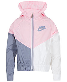 Nike Little Girls Colorblocked Hooded Sportswear Windrunner Jacket