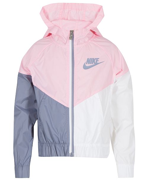 ... Nike Little Girls Colorblocked Hooded Sportswear Windrunner Jacket ... 2aadd5c29