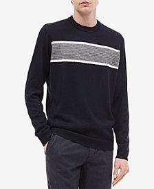 Calvin Klein Men's Textured Chest Stripe Sweater