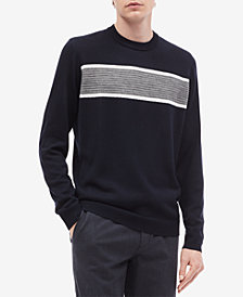 Calvin Klein Men's Textured Stripe Merino Sweater