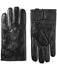 Isotoner Men's Leather Driving Gloves