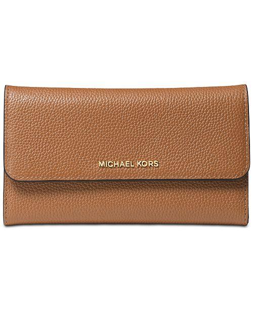 1d8ce7db5681 Michael Kors Pebble Leather Trifold Wallet & Reviews - Handbags ...