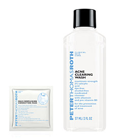 Receive a FREE Acne Clearing Wash and Max Complexion Pad with $45 Peter Thomas Roth purchase!