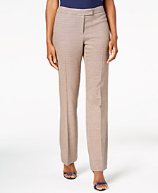 Anne Klein Flare-Leg Plaid Pants, Created for Macy's